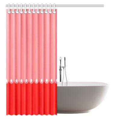 Mod Pop Red Pink Dots Shower Curtain Original Design