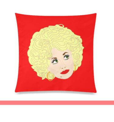 dolly red pillow