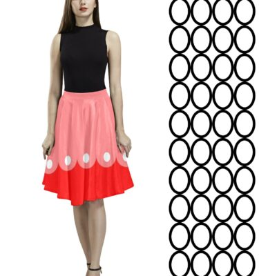 pleated skirt white dots
