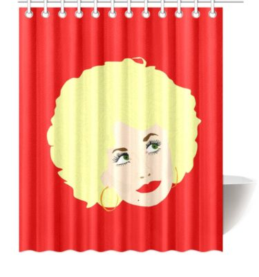shower curtain dolly big face