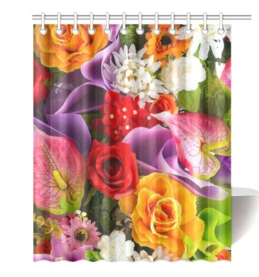 shower curtain floral
