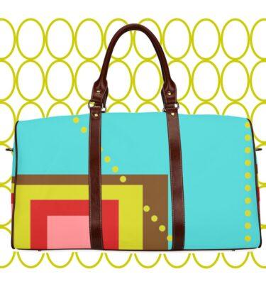 travel bag brn blue squares1