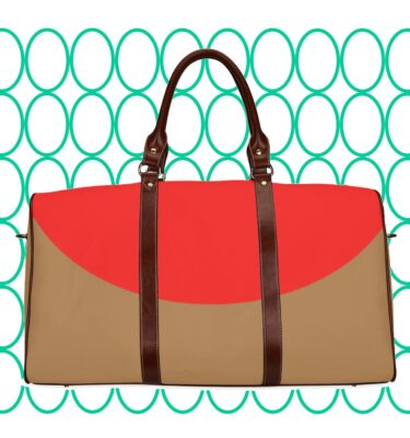 travel bag red yellow brn2