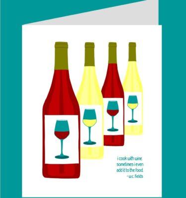 card mock up wine