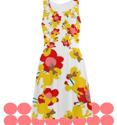 fit and flare dress poodles