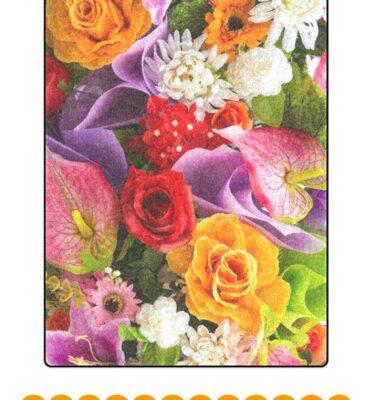 fleece blanket flowers