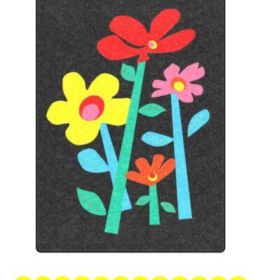 fleece blanket mod floral black