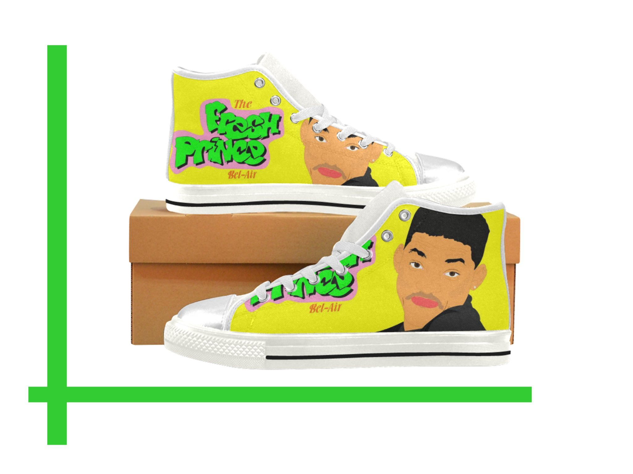 watch 480d4 9ae79 fresh prince of bel air Kids Canvas Shoes