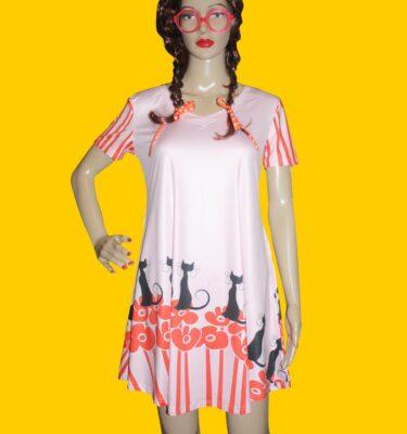 vneck flare dress