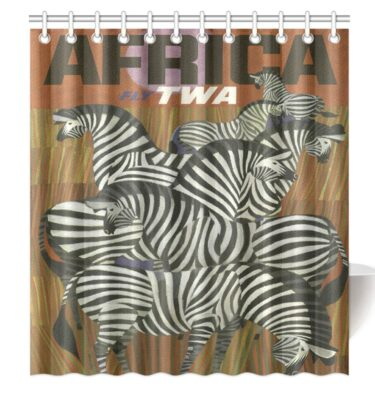 shower curtain africa