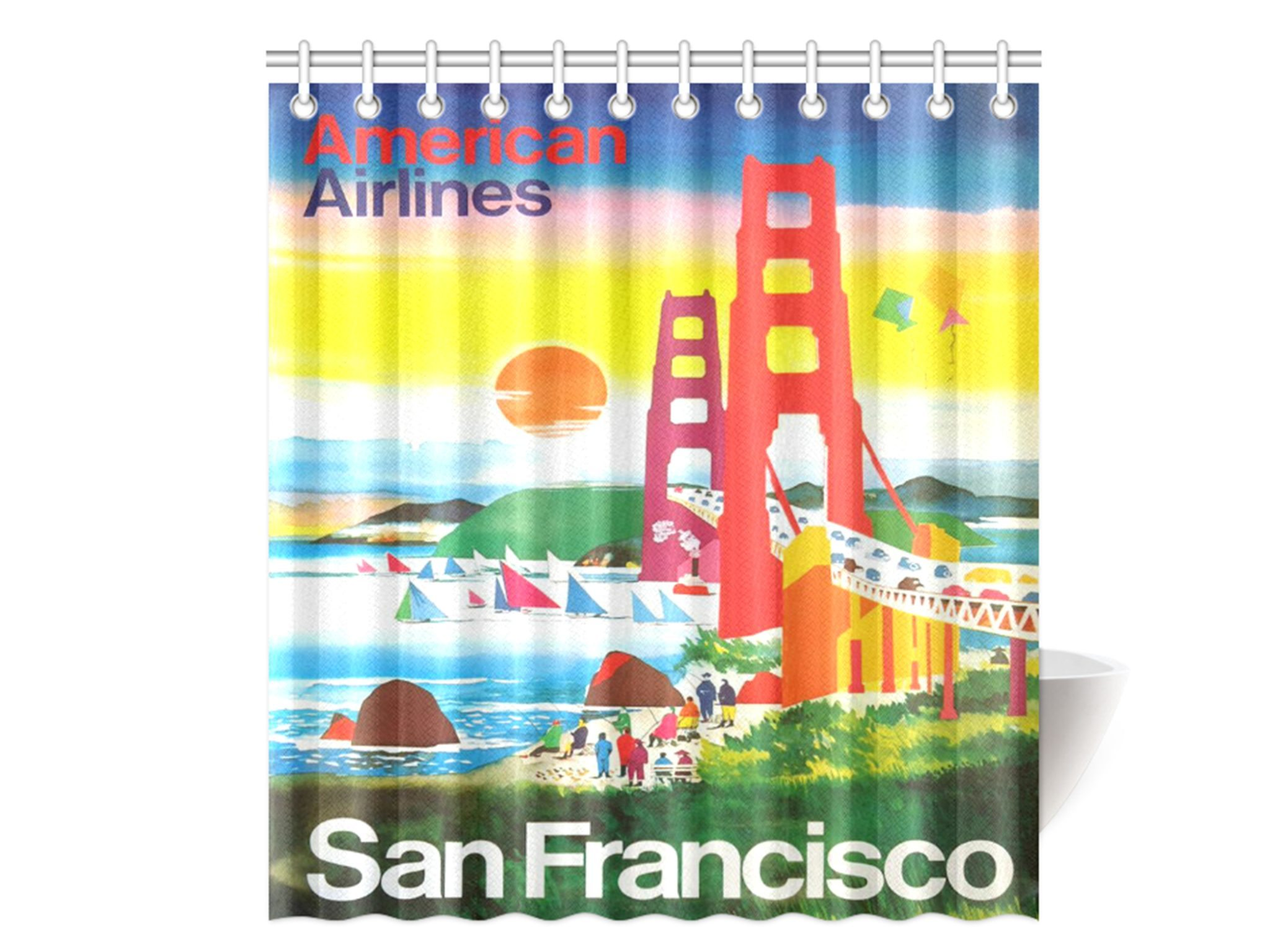San Francisco Vintage Travel Ad Shower Curtain