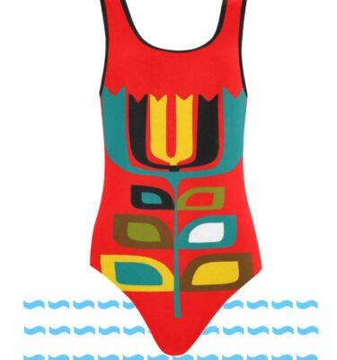 swimsuit pop flower