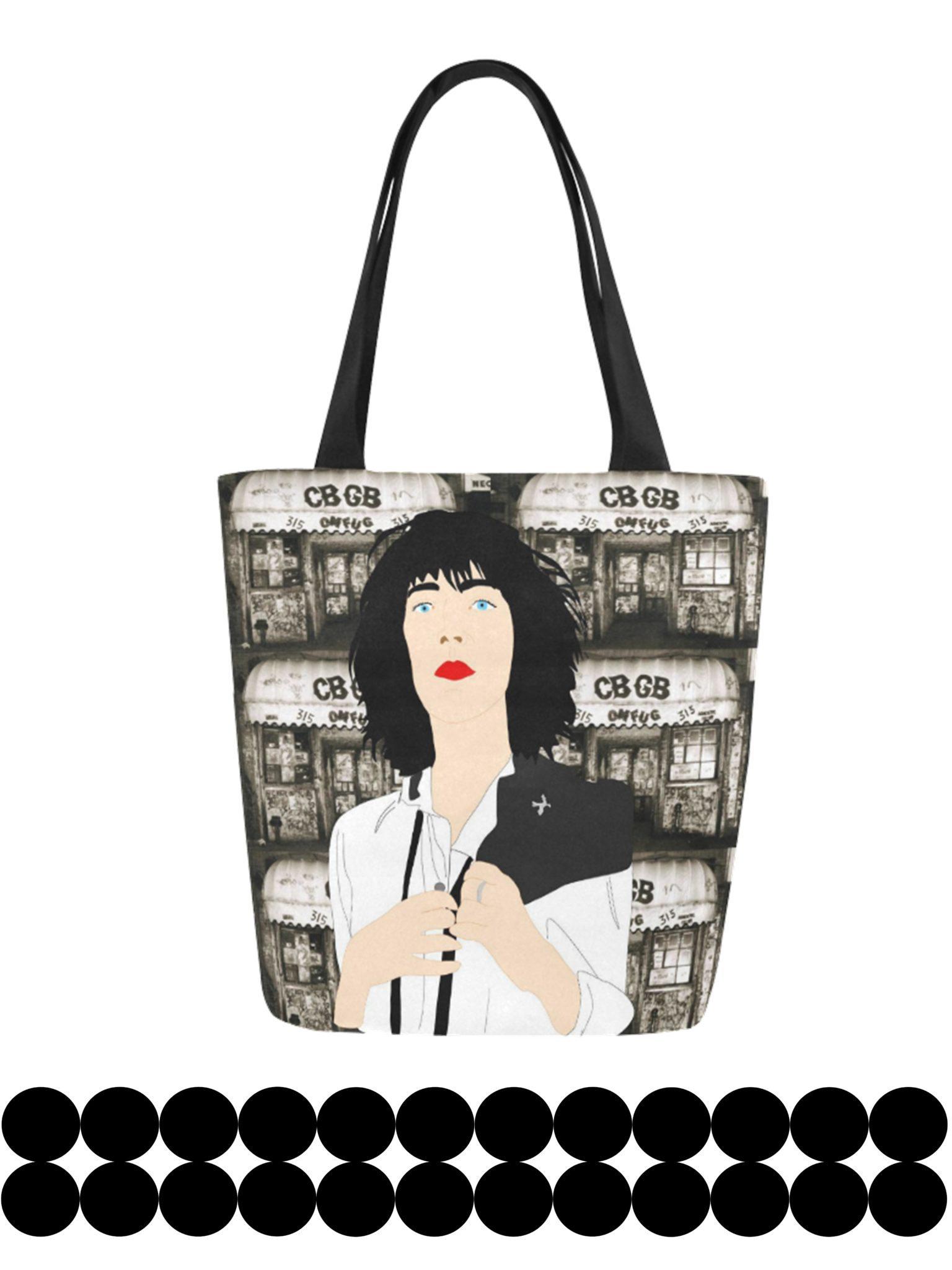 patti smith canvas tote bag original illustration kayci garline wheatley. Black Bedroom Furniture Sets. Home Design Ideas