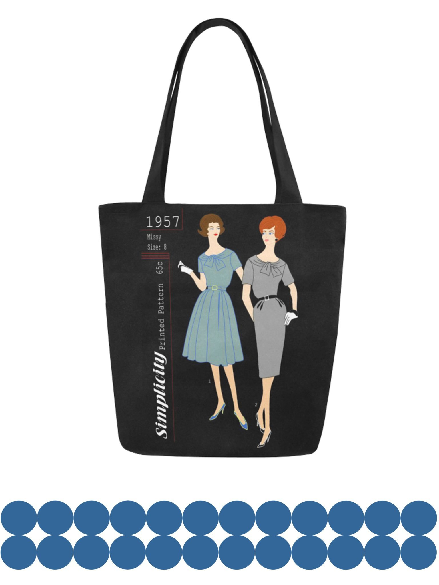 vintage pattern canvas tote bag original illustration kayci garline wheatley. Black Bedroom Furniture Sets. Home Design Ideas