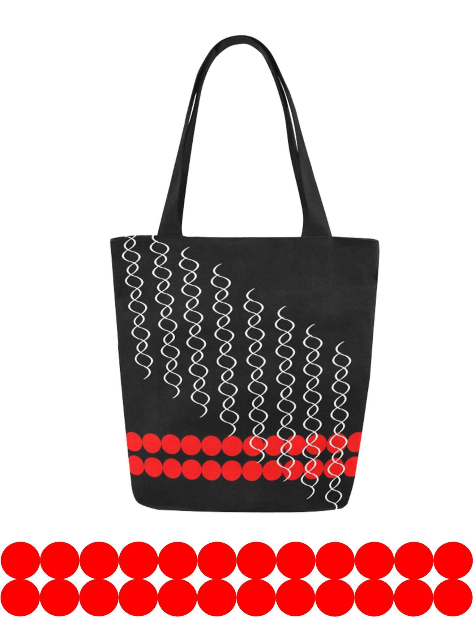 mod pop canvas tote bag original illustration kayci garline wheatley. Black Bedroom Furniture Sets. Home Design Ideas