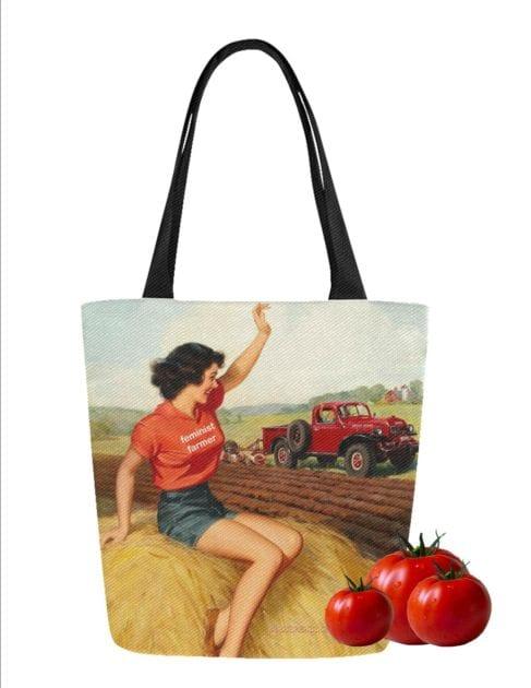 farmers market totes feminist