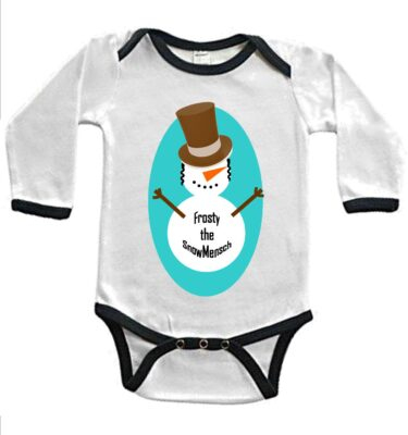 long sleeve ringer yid kids baby bodysuits
